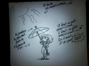 Je possède également la parapluie le plus mal foutu de l'histoire des parapluies